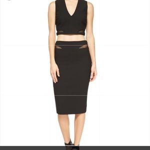 Elizabeth and James Otto Mesh Top and Skirt set